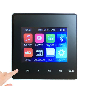 Image 3 - Home Bluetooth usb sd Mini Audio Wall Screen Amplifier tablet smart Music System movie player amplifier with Touch Key for hotel