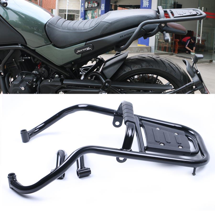1 pièces porte-bagages moto barre arrière arrière aile étagères accoudoir support garde acier noir pour Benelli BJ500 BJ 500 Leoncino