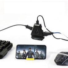 PUBG มือถือคีย์บอร์ดเม้าส์แปลงเกมคอนโทรลเลอร์จอยสติ๊ก Gamepad อะแดปเตอร์ปลั๊กและเล่นสำหรับ iOS 9 ขึ้นไป Converter