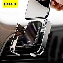 Baseus 10W רכב צ י אלחוטי מטען עבור iPhone XS מקס סמסונג Xiaomi רכב טלפון מחזיק אינטליגנטי אינפרא אדום מהיר אלחוטי טעינה