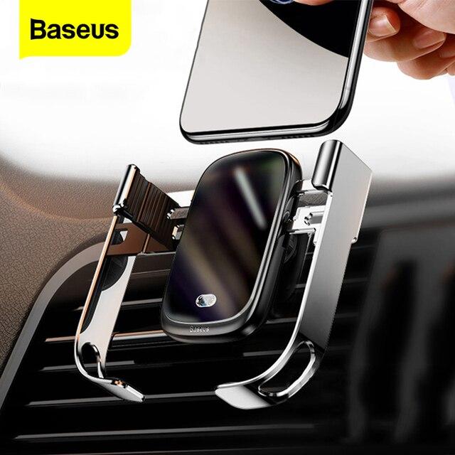 Baseus 10w carro qi carregador sem fio para iphone xs max samsung xiaomi titular do telefone carro inteligente infravermelho rápido sem fio de carregamento