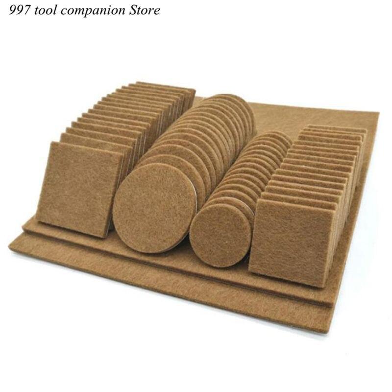 80/130pcs Furniture Chair Table Leg Self Adhesive Felt Wood Floor Protector Pads-4