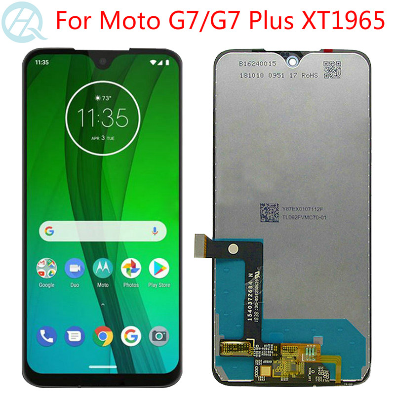 Original G7 Display For Motorola G7 Plus LCD With Frame 6.2