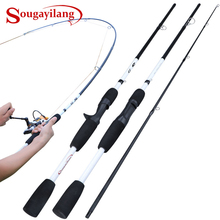 Sougayilang 2 3 Sections Carbon Fiber Spinning Casting Fishing Rod Ultralight Weight Fishing Pole Travel Rod Fishing TacklePesca cheap Ocean Boat Fishing Ocean Rock Fshing Ocean Beach Fishing LAKE River Reservoir Pond stream Lure Rod A-HBLJ HARD Spinning Casting