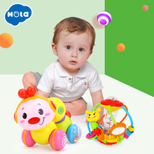 HOLA 929 and 997 Creeping Worm Lovely Musical Brinquedos Bebe Press function with music & light Learning Toys for kids gift