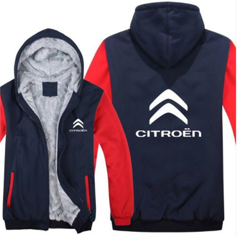 Citroen Hoodies Mans Jacket Winter High Quality Men Casual Wool Liner Fleece Citroen Logo Sweatshirts Hoody