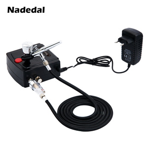 Nasedal Dual-Action Airbrush Spray Gun Mini Airbrush Compressor Kit Airbrush for Nail Art Makeup Tattoo Model Cake Car paint(China)