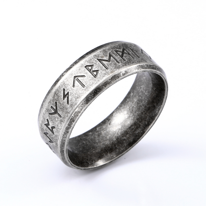 Beier acciaio inossidabile odino norreno vichingo amuleto runa uomini anello moda parole gioielli retrò LR-R133 1