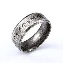 Байер 316L нержавеющая сталь модный стиль для мужчин и женщин мода Odin Norse амулет викинга руны слова Ретро Кольца Ювелирные изделия LR-R133