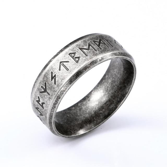 Stainless steel Odin Norse Viking Amulet Rune MEN Ring  1