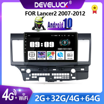 10 2 Din Android Car Radio for Mitsubishi Lancer 2007-2012 2DIN multimedia player 4G+WIFI RDS DSP GPS navigator Bluetooth