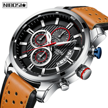 купить NIBOSI Mens Watches Top Luxury Brand Men Unique Sports Watch Men's Quartz Date Clock Waterproof Wrist Watch Relogio Masculino по цене 1298.72 рублей