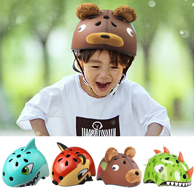 Capacete Bike 3 8 Years Children's  High Density PC Cartoon Skating Child Cycling Riding Kids Downhill Helmets Bicycle Helmet     - title=