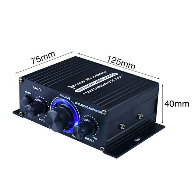 LED AMP Amplificador Home Theater USB TF Card Player 5
