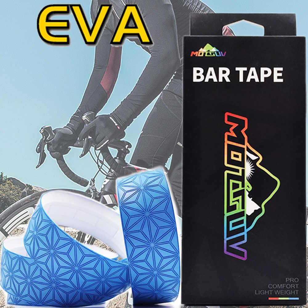 Motsuv 자전거 핸들 바 테이프 스타 페이드 레이스 자전거 바 테이프 사이클링 도로 자전거 방수 eva 테이프 랩
