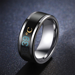 1pc Temperature Ring Titanium Steel Mood Emotion Feeling Intelligent Temperature Sensitive Ring for Women Men Waterproof Jewelry