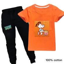 Летний комплект детской одежды для маленьких девочек топ scooby