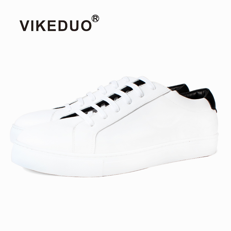 Vikeduo 2009 Summer Fashion Retro Handmade Shoes Mens Clothing Leather Small White Platform Tie Leisure Z