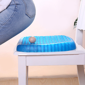 Elastic Gel Seat Cushion With Black Case Non-slip Comfortable Massage Seat Office Chair Health Care Pain Release Cushion(China)