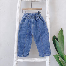 2019 New Fashion Girls Jeans Baby Girl Boutique Clothes Children autumn new Korean version jeans childrens trousers