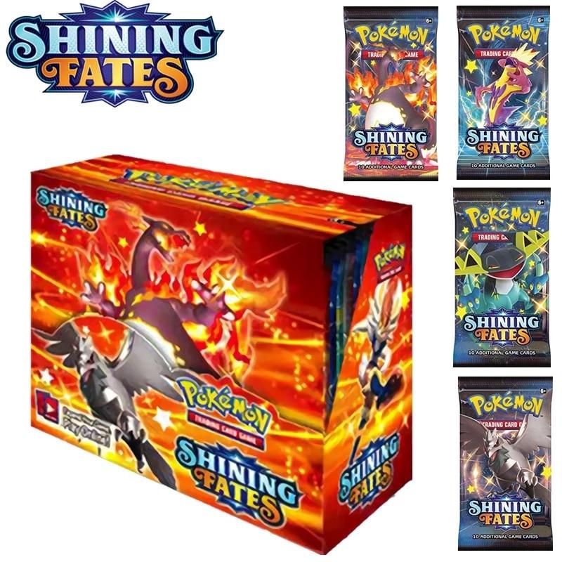Коробка для карт с покемоном TCG: сияющие судьбы эволюции солнце и луна Покемон бустер ex gx vmax карточная игра игрушка подарок на день рождения ...