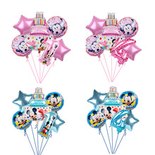 1set mickey mouse minnie foil balloons number