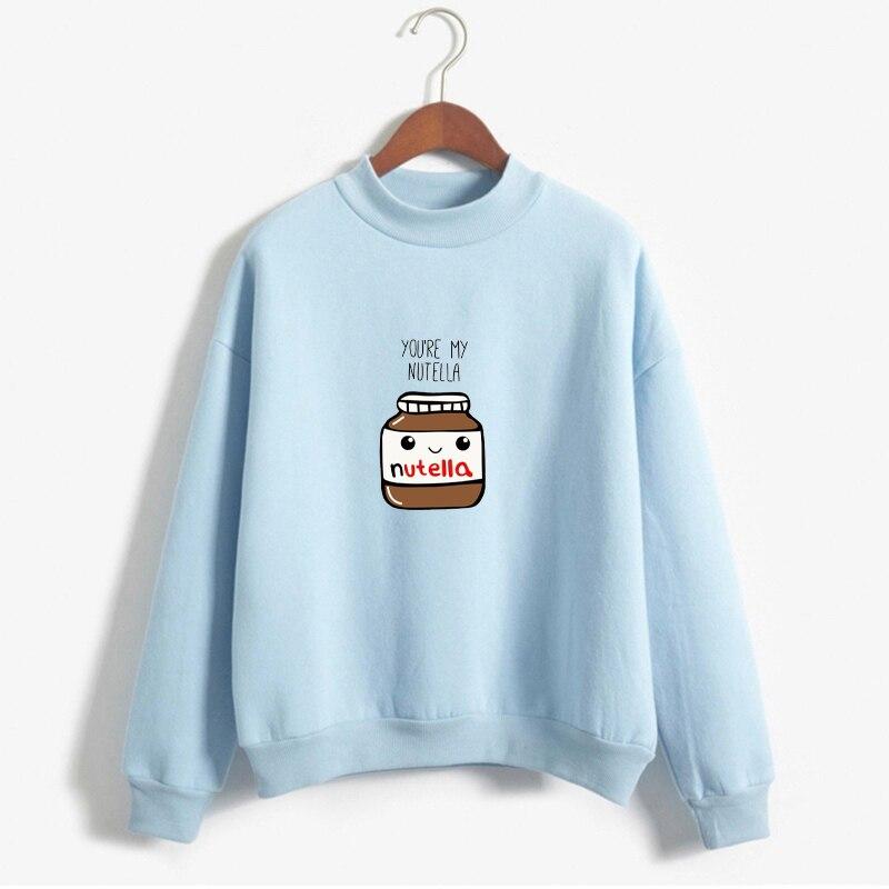 Sweatshirt Befree Moletom Feminino Clothes Women Harajuku Hoodies Korean Fashion You Are My Nutella Printed Kawaii Hoodies