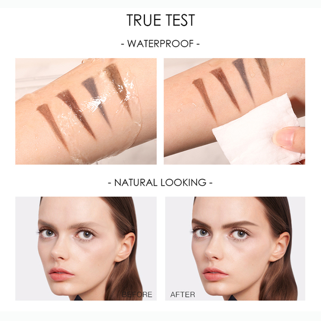 FOCALLURE Artist Sketch Eyebrow Pencil Waterproof Natural Long Lasting Eye Makeup Eye Brow Tint 4 Color Brows Makeup 3