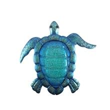 Liffy Gift Blue Metal Turtle grafika ścienna do dekoracji ogrodu na zewnątrz zwierząt do rzeźby ogrodowe miniatury i rzeźby stoczni