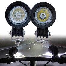 1 זוג 10W LED אופנוע נהיגה זרקור רכב SUV אופניים 12V 24V ספוט מבול פנס משאית WAGON 4WD AUXILIRY ערפל מנורת אור