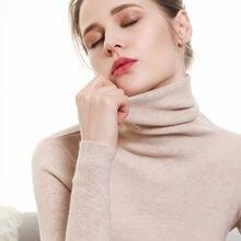 Осенне зимний высококачественный вязаный свитер для женщин с