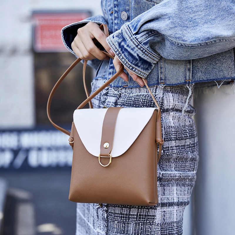 Bolsos de lujo de mujer bolsos de diseñador de moda bandolera bolso de hombro cubierta de contraste bolsos de mensajero de cuero