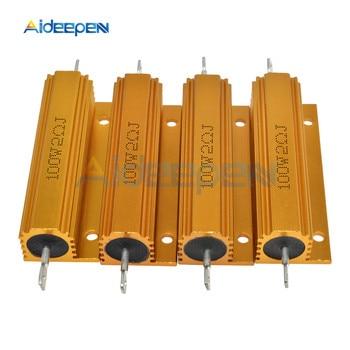 цена на Full Value 100W Aluminum Housed Metal Shell Case Wirewound Resistor 0.1~1K 0.1 0.5 1 1.5 2 3 4 5 6 8 10 12 20 30 50 100 1K ohm
