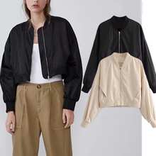 2019 autumn bomber jacket women england preppy vintage short oversize zipper casaco feminino jaqueta feminina