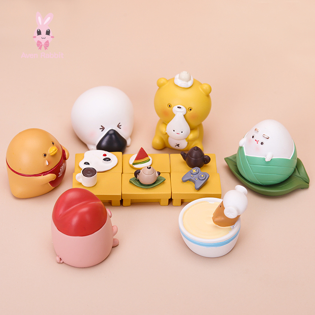 Food Series Blind Box Toys Guess Bag Caja Ciega Blind Bag Toys Anime Figures Cute Food Model Doll Caja Ciega Desktop Ornaments 2