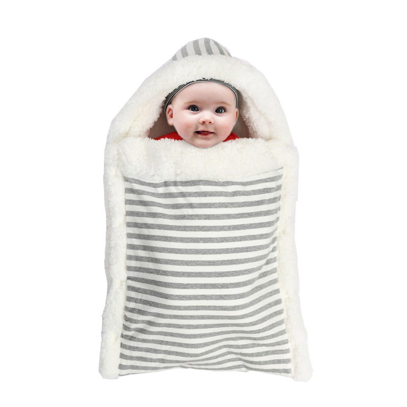 Baby Blanket  Swaddle Bebe Envelope Sleeping Bag For Newborns Baby Bedding Blankets Winter Warm Sleepsack Stroller Wrap