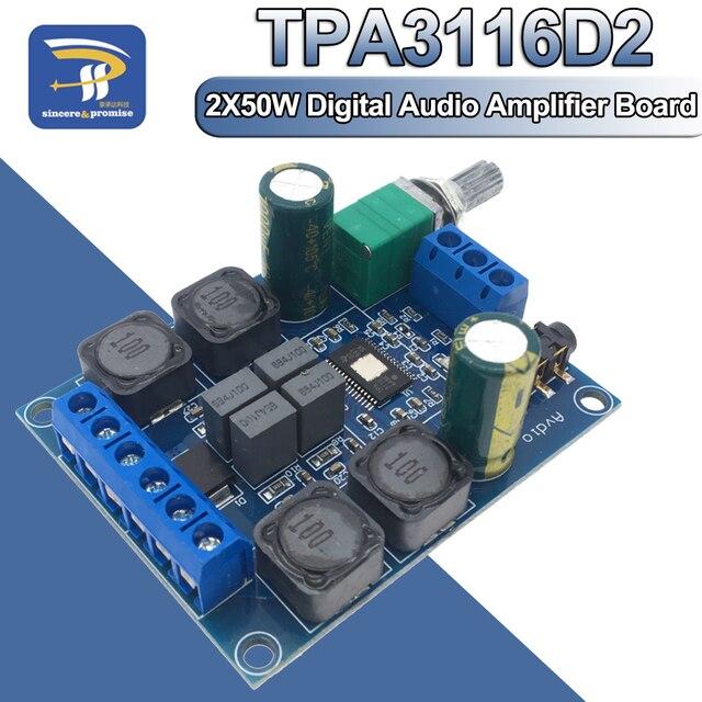TPA3116 Digitale Audio Verstärker Board TPA3116D2 Subwoofer Lautsprecher Verstärker DC4.5V 24V 2*50W