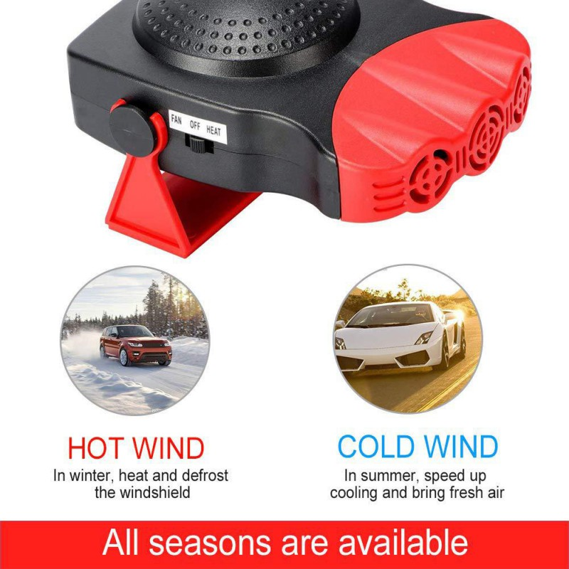 12V 150W Auto Car Heater Portable Car Heater Heating Fan Windshield Defogging Defroster Handle Heating Purification Tools