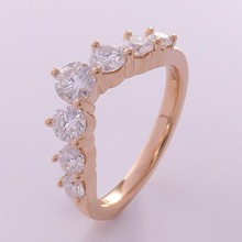 14k Yellow Gold Band D Color Moissanite Round Cut 1pcs 4mm 2pcs 3.5mm 2pcs 3mm And 2pcs 2.5mm Include the Fast Shipping