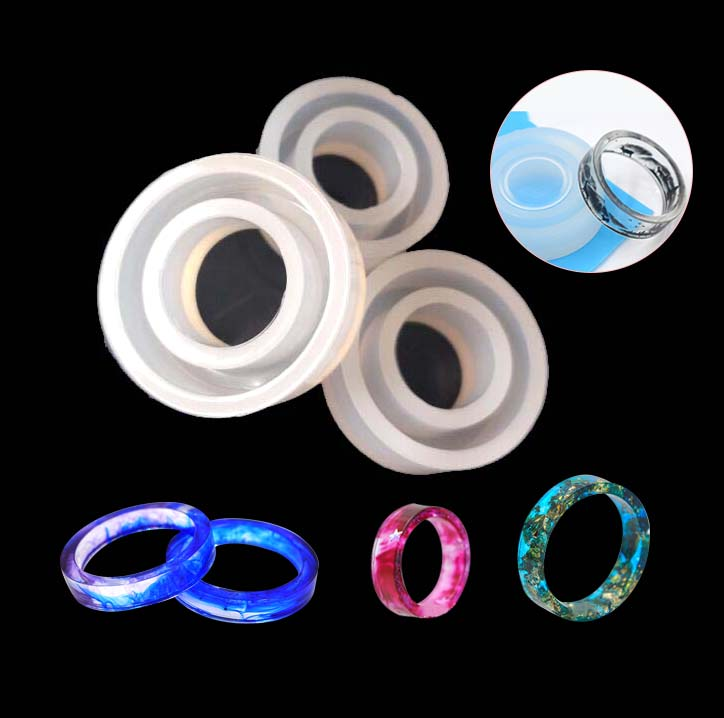 1PC Silicone Ring Mold Handmade Decoration Jewelry Rings Craft Circle Design Resin Casting Mold Making Tools Equipments