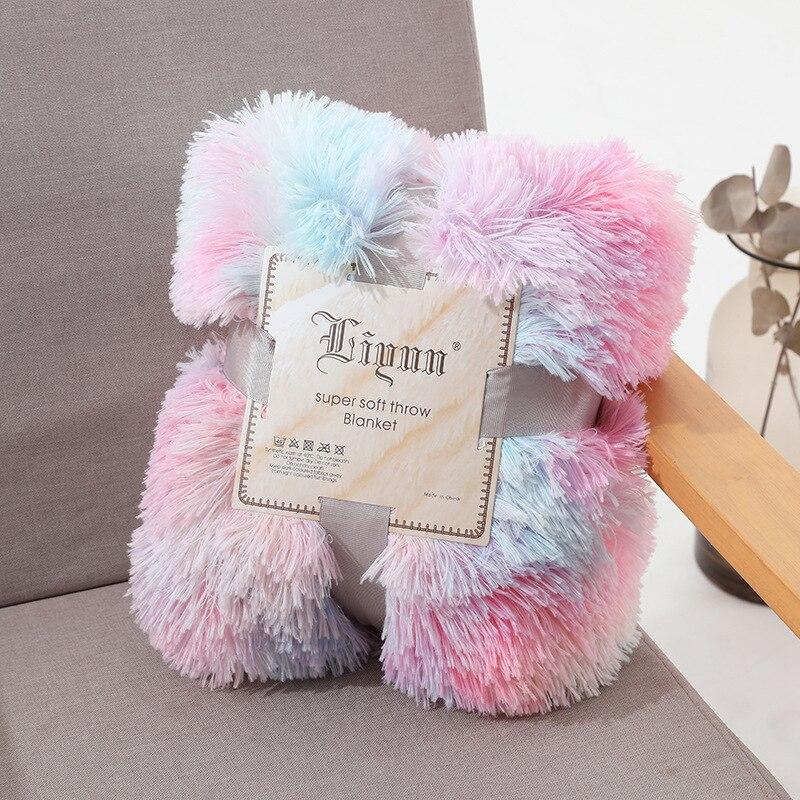 Купить одеяло s мягкий мех искусственный с пушистым пледом одеяло кровать