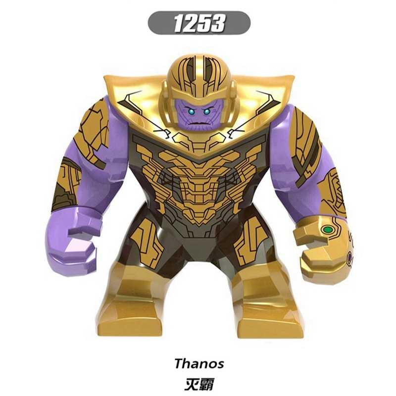 Legoing Thanos maravilha Homem De Ferro Avengers Figuras Com Manopla Infinito Guerras Brinquedos Grandes Blocos de Tamanho Legoings Maravilhou Estatueta Presente