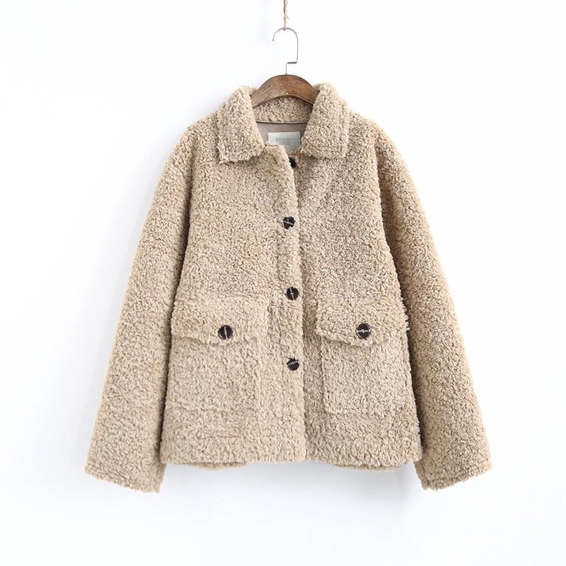 Koreaanse Dikke Lam Wol Jassen Vrouw Kleding Vintage Plus Size Winter Jas Vrouwelijke Warme Jas Vrouwen Jassen Tops Ll006