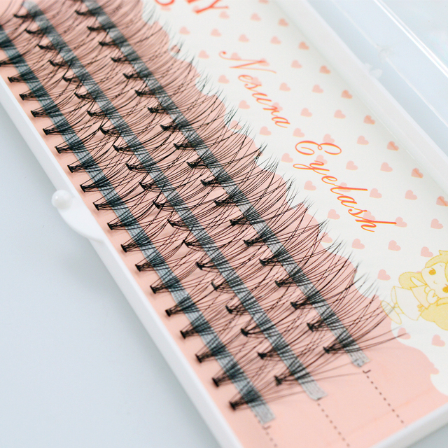 QSTY 60pcs Natural Long Individual Cluster Eyelash Extension Professional 10D Mink False Eyelashes Makeup Faux Soft Eye Lashes 5