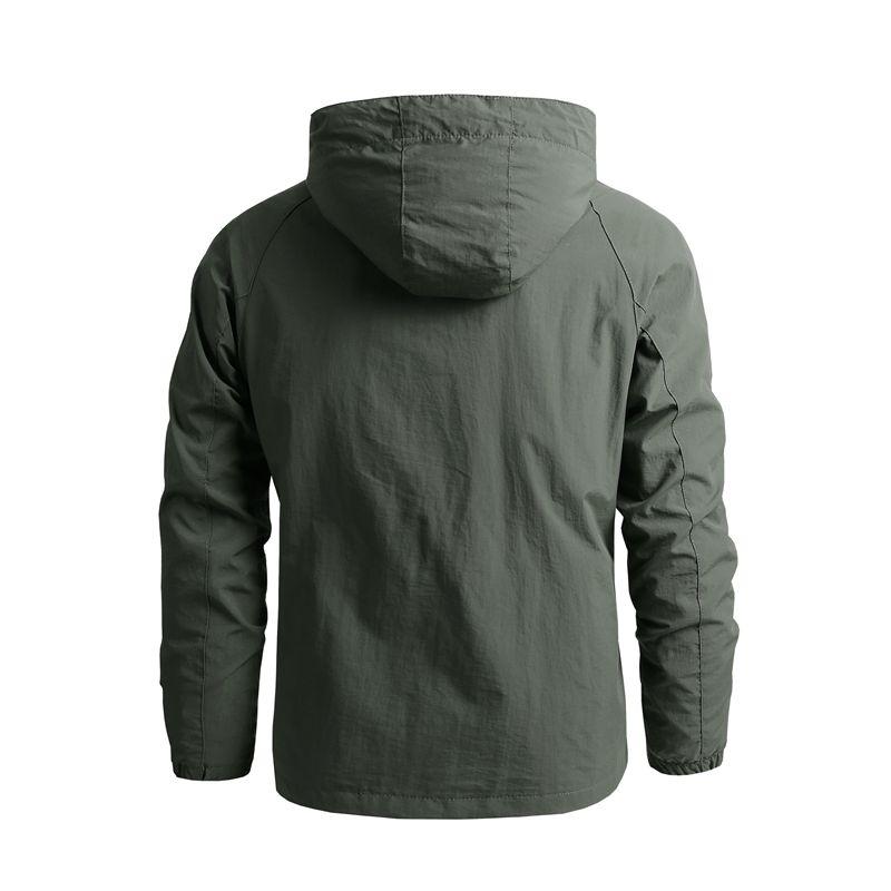 Veste de randonnée en plein air pour homme, manteau coupe-vent à capuche imperméable, décontracté, tactique militaire, 5XL, automne 2021