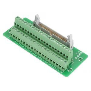 IDC40P 40-контактный штырьковый разъем клеммной колодки интерфейс ПЛК с кронштейном для din-рейки шириной 15/32/35 мм