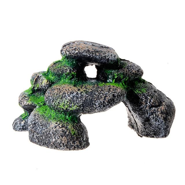Rock Cave Aquarium Landscape Fish Tank Stones 5