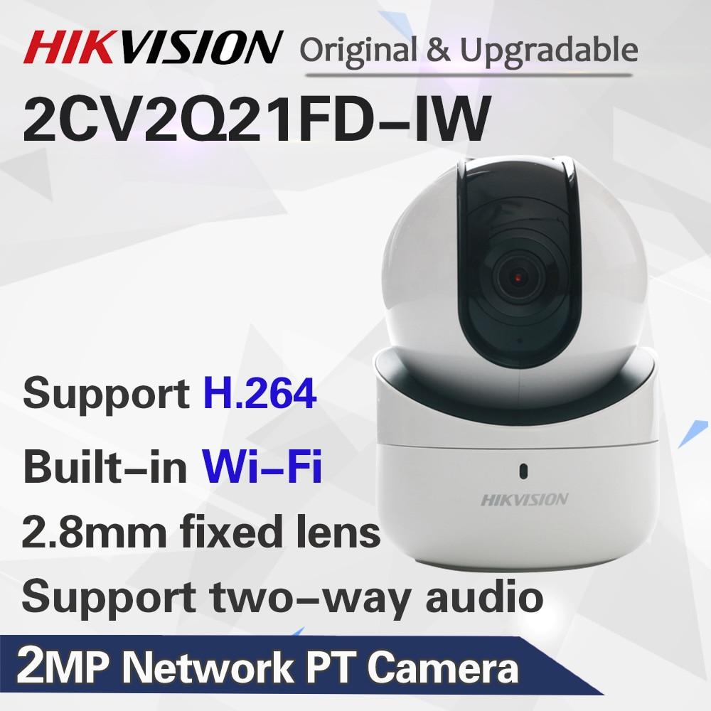 Бесплатная доставка английская версия 2MP сетевая камера pt DS-2CV2Q21FD-IW встроенный микрофон и динамик, поддержка двустороннего аудио