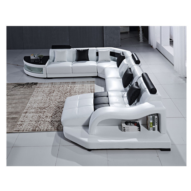Multifunctional White Bedroom and Living Room Combo 4