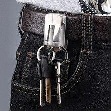 Belt Keychain Buckle Luxury Key-Ring-Holder Double-Hook Best-Gift 304-Stainless-Steel